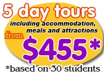 Canberra school tours for middle school and primary